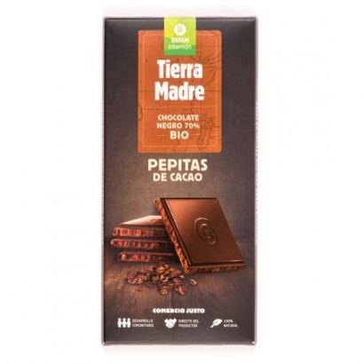 CHOCOLATE NEGRO 70% PEPITAS...