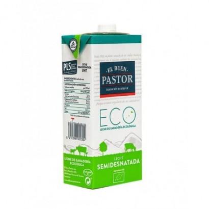 Leche Ecológica Semidesnatada El Buen Pastor - Tienda Online de Espacio Orgánico