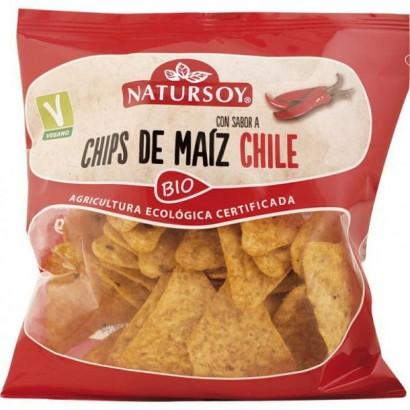 CHIPS MAIZ CHILI 75G NATURSOY