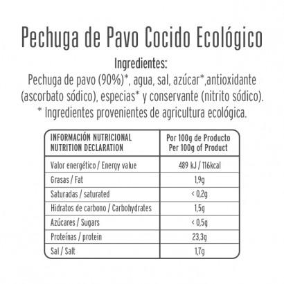 PAVO COCIDO ECOLOGICO 80GR...