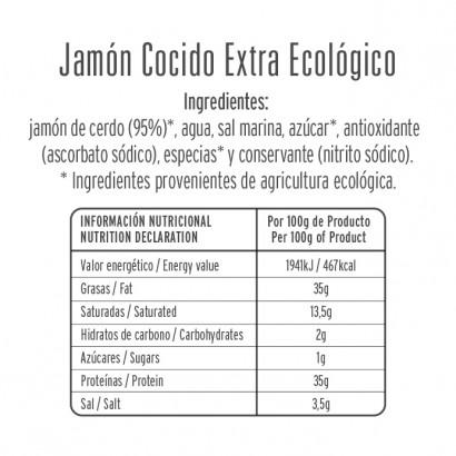 JAMON COCIDO ECOLOGICO 80GR...