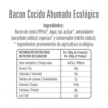 BACON COCIDO ECOLOGICO 80GR...